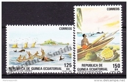 Equatorial Guinea -  Guinea Ecuatorial - Guinée Équatoriale 1984 Edifil 53- 54, Artisanal Fishing - MNH - Guinée Equatoriale