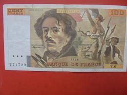 FRANCE 100 FRANCS 1978 ALPHABET Y.6 CIRCULER - 1962-1997 ''Francs''