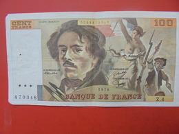 FRANCE 100 FRANCS 1978 ALPHABET Z.4 CIRCULER - 1962-1997 ''Francs''