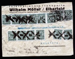 A5906) DR Infla Brief Elberfeld 06.11.23 N. Augsburg MeF Mi.321A (28) Gepr. Infla Berlin - Briefe U. Dokumente