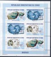 Congo 2002 Minerals Mineraux Feuillet  MNH - Minéraux