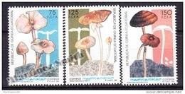 Equatorial Guinea -  Guinea Ecuatorial - Guinée Équatoriale 1992 Edifil 159- 61, Autochthonous Mushrooms - MNH - Äquatorial-Guinea