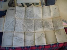 1881 PIANTA DI VENEZIA PUBBLICATA DAL MUNICIPIO  55 X 70 CM - Carte Stradali