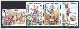 Equatorial Guinea -  Guinea Ecuatorial - Guinée Équatoriale 1986 Edifil 77- 80, Folklore - MNH - Guinea Ecuatorial