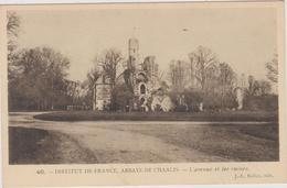 59   Chaalis Abbaye  L'avenue Et Ses Ruines - Autres Communes