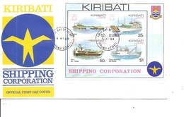Bateaux ( FDC De Kiribati De 1984 à Voir) - Barche