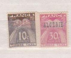 ALGERIE         N°  YVERT  :   TAXE 33/34    NEUF AVEC  CHARNIERES      ( Ch 1/22  ) - Algérie (1924-1962)