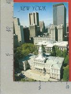 CARTOLINA VG STATI UNITI - NEW YORK CITY - City Hall - 10 X 15 - ANN. 1992 - New York City