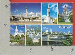 CARTOLINA VG UNGHERIA - BUDAPEST - Vedutine Multivue - 10 X 15 - ANN. 2000 AFFRANCATURA MECCANICA ROSSA - Ungheria