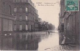 ELBEUF (76) - Inondations De 1910 - Rue Henry Et Rue De Paris - 1910 - AL - Elbeuf