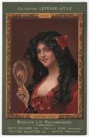 CPA Pub LEFEVRE UTILE LU Femme Au Miroir - Advertising