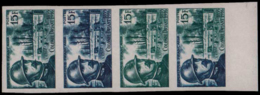FRANCE Essais  1052 Bande De 4 Essais Dont Polychrome, Bdf: Colonel Driant, Verdun - Essais