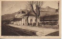 39 SALINS-les-BAINS  La Gare Et Le Mont Poupet - Francia