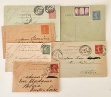 France Lot De 6 Entiers Postaux Type Semeuse - Utilisé - (B2026) - Lots Et Collections : Entiers Et PAP