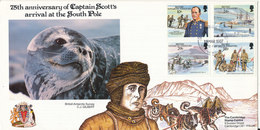 British Antarctic Territory (BAT) FDC 19-3-1987 Complete Set Of 4 With Nice Cachet - FDC