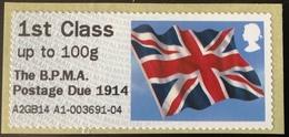 GB Post & Go - Union Flag - The BPMA Postage Due 1914 Overprint - 1st Class / 100g - MNH - Great Britain