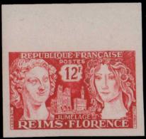 FRANCE Essais  1061 Essai En Vermillon, Bdf: Reims -Florence - Essais