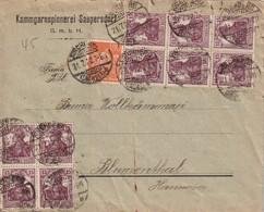 ALLEMAGNE 1922 LETTRE DE SAUPERSDORF PAR KIRCHBERG - Allemagne