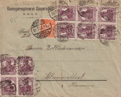 ALLEMAGNE 1922 LETTRE DE SAUPERSDORF PAR KIRCHBERG - Deutschland
