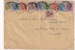 ALLEMAGNE 1922 LETTRE AVEC ZUGSTEMPEL MAINZ-BODENHEIM - Allemagne