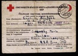A5909) POW Kriegsgefangenenkarte V. Dachau 08.07.48 N. Lager 987 / UdSSR - Gemeinschaftsausgaben