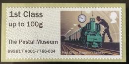 GB Post & Go - Post Office Railway - Postal Museum Overprint - 1st Class / 100g - MA17 Date Code MNH - Great Britain