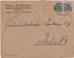 ALLEMAGNE LETTRE DE LICHTENSTEIN-CALLNBERG POUR BERLIN AVEC ZUGSTEMPEL - Allemagne