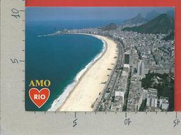 CARTOLINA VG BRASILE - RIO DE JANEIRO - Vista Panoramica Da Avenida Atlantica - 10 X 15 - ANN. 2000 MECCANICA ROSSA - Rio De Janeiro
