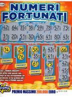 GRATTA E VINCI   - NUMERI FORTUNATI Codice EE NUMERO 14  DA € 3.00 - USATO (SERIE AAMS) - Biglietti Della Lotteria