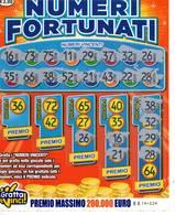 GRATTA E VINCI   - NUMERI FORTUNATI Codice EE NUMERO 36  DA € 3.00 - USATO (SERIE AAMS) - Biglietti Della Lotteria