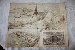 Superbe Plan Souvenir De L'Exposition Universelle De PARIS, 1889. Signé JC. GILLOT. - Documents Historiques