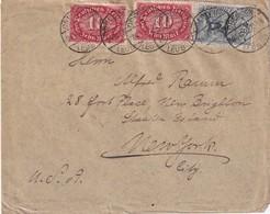 ALLEMAGNE 1922 LETTRE DE DRESDEN POUR NEW YORK - Allemagne