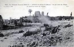 51 - MESNIL-les-HURLUS  - Ce Qui Reste Du Village - Au Fond Les Ruines De L'Eglise - - Frankreich