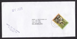 Ghana: Airmail Cover To Netherlands, 1997, 1 Stamp, World Soccer Champions, Football, Sports (minor Damage) - Ghana (1957-...)