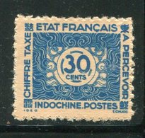 INDOCHINE- Taxe Y&T N°83- Oblitéré - Timbres-taxe