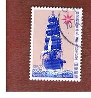 GIAPPONE  (JAPAN) - SG 1569   -   1980  SHIPS: NIPPON MARU I      - USED° - 1926-89 Imperatore Hirohito (Periodo Showa)