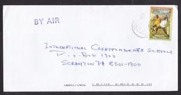 Ghana: Airmail Cover To USA, 1 Stamp, World Soccer Champions, Football, Sports (minor Damage) - Ghana (1957-...)
