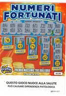 GRATTA E VINCI   - NUMERI FORTUNATI Codice DD NUMERO 16  DA € 3.00 - USATO (SERIE STELLA NUOCE ALLA SALUTE) - Biglietti Della Lotteria