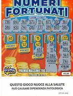 GRATTA E VINCI   - NUMERI FORTUNATI Codice TT NUMERO 65  DA € 3.00 - USATO (SERIE STELLA NUOCE ALLA SALUTE) - Biglietti Della Lotteria