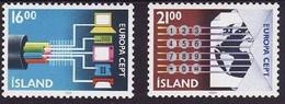 Islande Iceland Ijsland 1988 Yvertn° 635-636 *** MNH Cote 4,50 Euro Europa Cept - 1944-... Republique