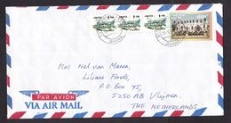Ghana: Airmail Cover To Netherlands, 1997, 4 Stamps, World Soccer Champions, Football, Sports, Castle (traces Of Use) - Ghana (1957-...)