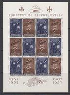 Liechtenstein 1957 Scouting 2v In Sheetlet ** Mnh (41876) - Liechtenstein