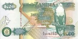 ZAMBIE 20 KWACHA 1992 UNC P 36 A - Zambie