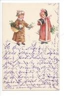 21507 - Deux Jeunes Filles Panier De Houx Série 6 Circulée Pesux 1899 - Enfants