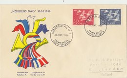 DENMARK 1956 FDC With Swans.BARGAIN.!! - Cygnes