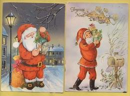 2388 * Lot De 2 Cartes * NOEL * Père Noel * Voyagées En 1988 *  (recto-verso) - Natale