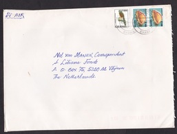 Ghana: Airmail Cover To Netherlands, 1997, 3 Stamps, Sea Shell, Bird (minor Discolouring) - Ghana (1957-...)