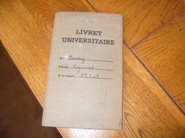 Livret Universitaire Faculté De Droit Paris 1940-1942 - Old Paper