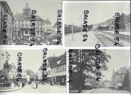 6 CPM - VIEUX WISSEMBOURG (67) La Gare, Bureau De Poste, Place Du Marché-aux-choux, Placel'hotel De Ville, Rue Bannacker - Wissembourg