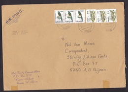 Ghana: Airmail Cover To Netherlands, 1998, 6 Stamps, Bird, Castle, Heritage (tape At Back) - Ghana (1957-...)